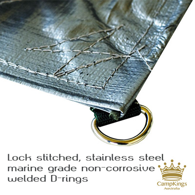 SUPEX Quality D-Ring Tarpaulins from CampKings Australia